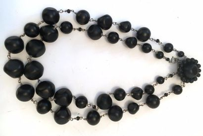 Gérard DAREL  Collier à deux rangs de perles...