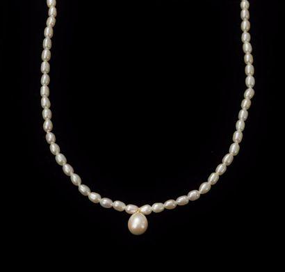Collier composé de perles de culture d'eau...