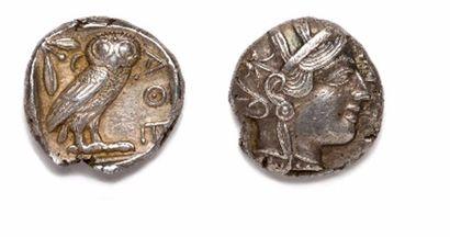 GRECE, Attique, Athènes (415 - 407)  Tétradrachme...