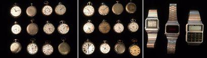 Lot de 24 montres gousset  En l'état    On...