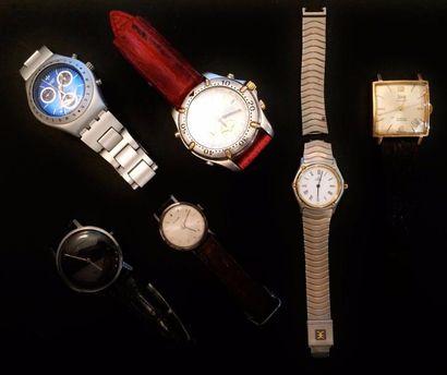 Lot de montres diverses :  - SEIKO Chronograph...