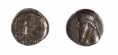 GRECE, Parthie  Lot de 2 drachmes : pour...