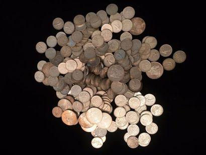 Lot de pièces en argent, principalement 5...