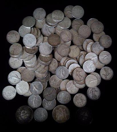 Lot de pièces en argent  Poids : 1.240 g...