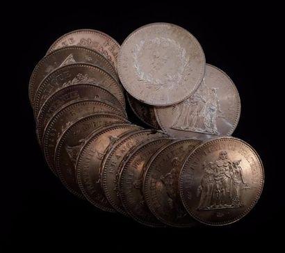14 x 50 FF argent