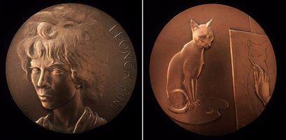Médaille en bronze présentant le profil de...