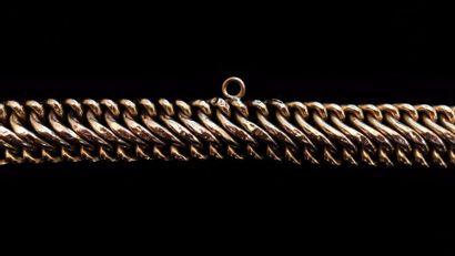 Bracelet en or jaune 18 K (750 °/°°) à mailles...