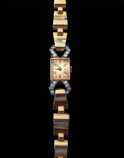 Montre bracelet de dame en or jaune 18 K...