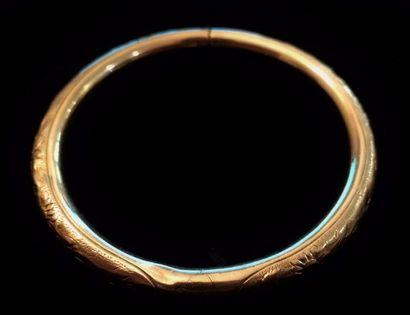 Bracelet jonc en or jaune 18 K (750 °/°°)...