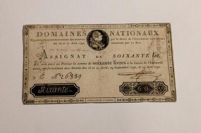 ASSIGNAT de 60 livres du 19 juin 1791. Laf....