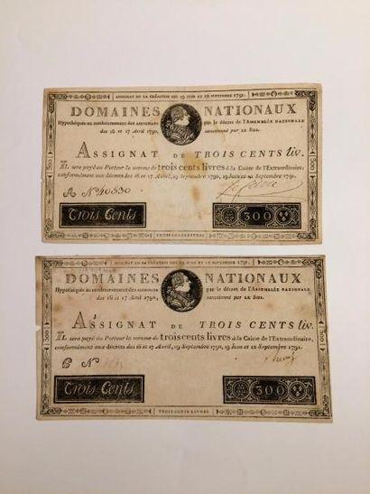 ASSIGNAT de 300 livres du 12 septembre 1791....