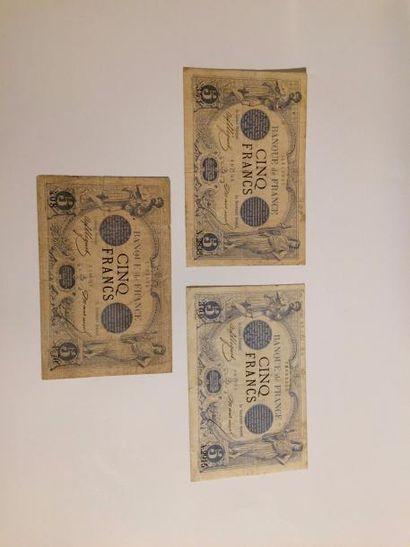 – IDEM-. Lot de 3 billets : F 1/2/ et 20...