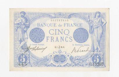 5 F Bleu. F 2/46 du 1.12.1916.  Quasi ne...
