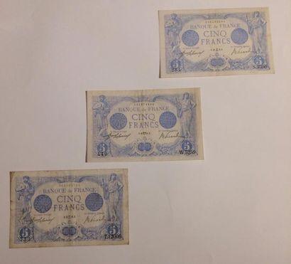 5 F Bleu. F 2/26 et 34 des 16.4 et 13.12.1915...