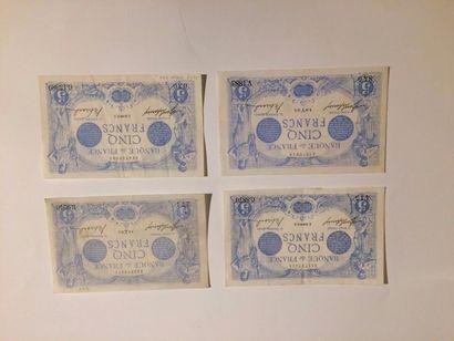 5 F Bleu. F 2/15 du 19.3.1913 (Presque superbe,...