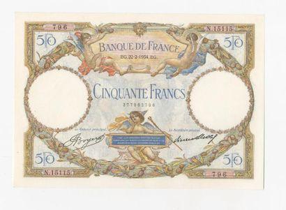 50 F Luc Olivier Merson modifié du 22.2.1934....