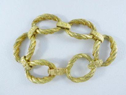Bracelet en or jaune 18k (750 millièmes)...