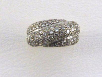 Bague de petit doigt en or gris 18k (750...