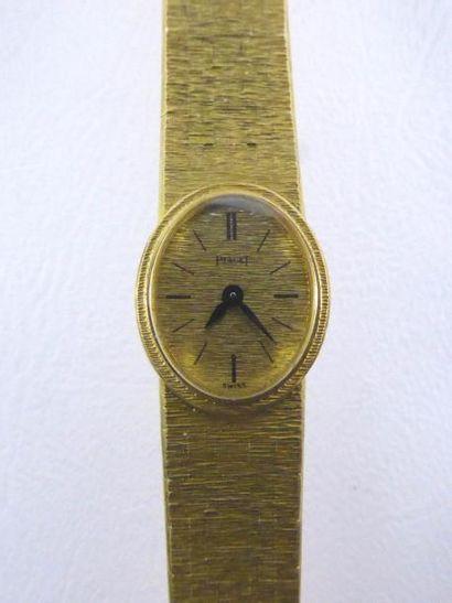 Montre de dame PIAGET en or jaune 18k (750...