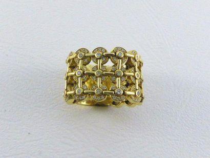Bague souple en or jaune 18 (750 millièmes)...