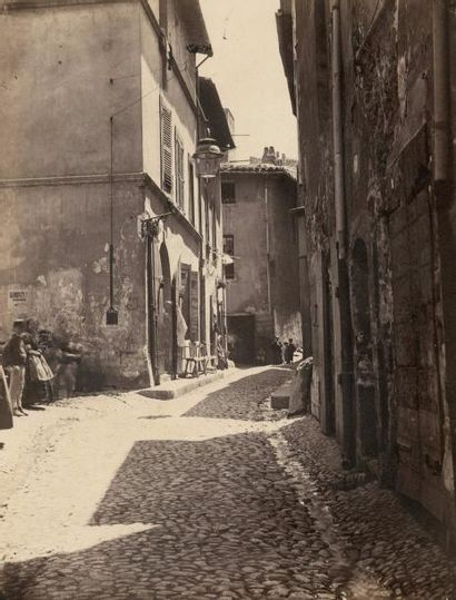 Adolphe TERRIS (1820-1900)  Rue des Icardins,...