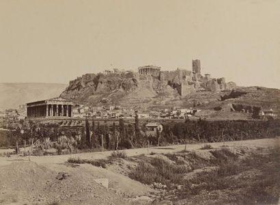 Dimitrios CONSTANTINE  Acropole, Athènes, Grèce, 1850  Tirage albuminé, monté sur...