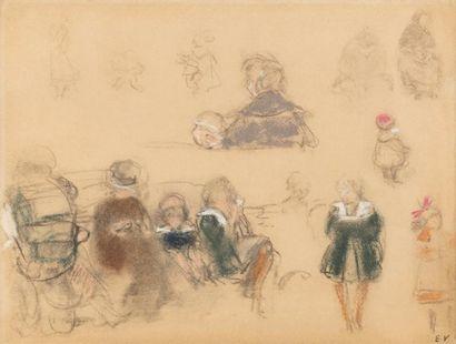 Edouard VUILLARD (Cuiseaux 1868 - La Baule 1940)  Etude de jeunes filles dans un...