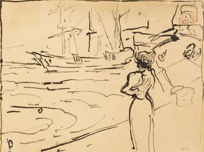 Louis VALTAT (Dieppe 1869 - Paris 1952)  Femme...