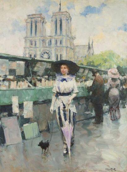 Victor GUERRIER (1893 - 1968)  Jeune femme...