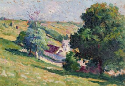 Maximilien LUCE (Paris 1858 - 1941)  Moulineux,...
