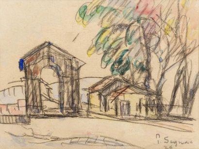 Paul SIGNAC (Paris 1863 - 1935)  Bourg-Saint-Andéol,...