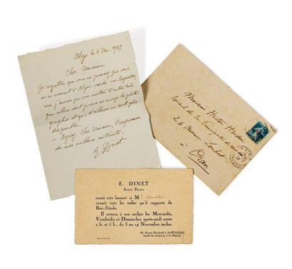 Lettre signée d'Etienne Dinet, et datée Alger...