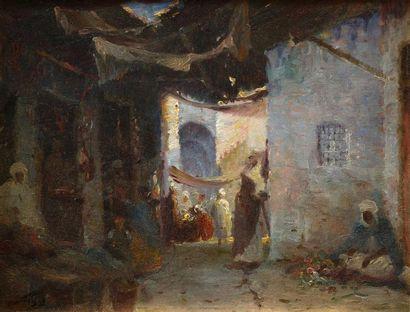 Gustave DEBAT (1861 - 1940)    Dans la vieille...