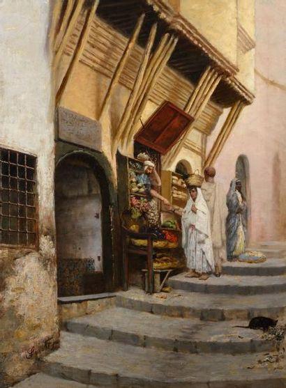 Joseph SINTES (1829 - 1913)  Le marchand...