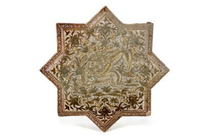 Grande étoile de revêtement Qajar  en céramique...