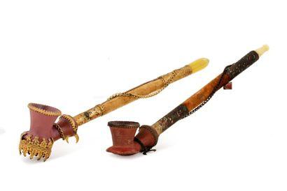 Ensemble de deux petits «Chibouk» ottomans...