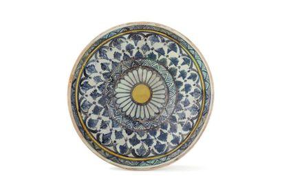 Mokhfia vers 1800  en céramique à décor peint...