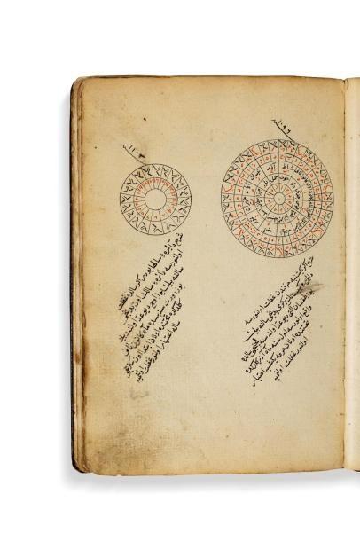 Calendrier du 17e siècle  Manuscrit arabe...