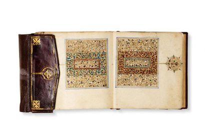 Première moitié de Coran maroccain vers 1800...