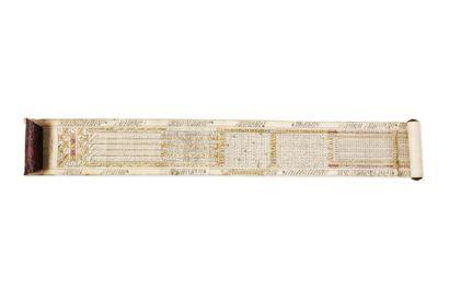 Rouznameh ottoman  Manuscrit rouleau sur...