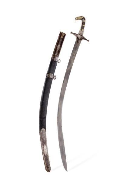 Shamshir Sabre ottoman  à poignée en corne...