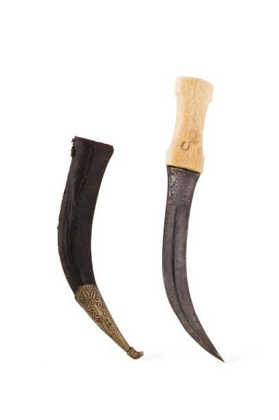 Khanjar Poignard iranien  à poignée ivoire...