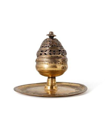 Brûle-parfum ottoman en tombak  en cuivre...