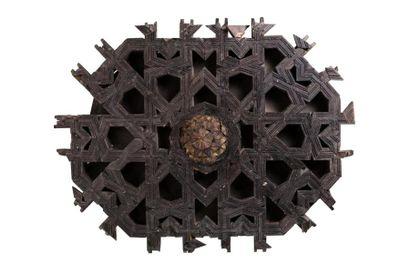Panneau de plafond mudéjar  en bois à caisson,...