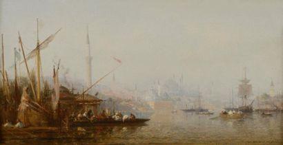 Henri DUVIEUX (Paris 1855 - 1920)  Caiques...