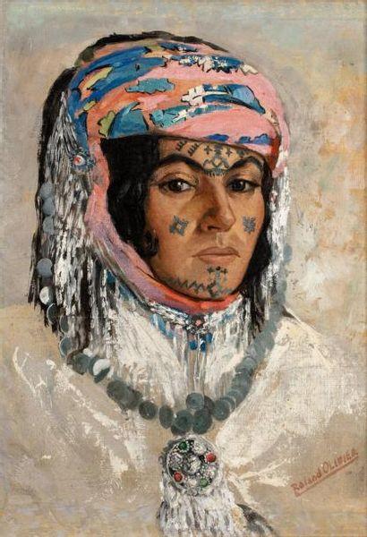 Roland Robert OLIVIER (Bordj-Medjana 1904 - Toulon 1983)  Femme des Aurès aux bijoux...