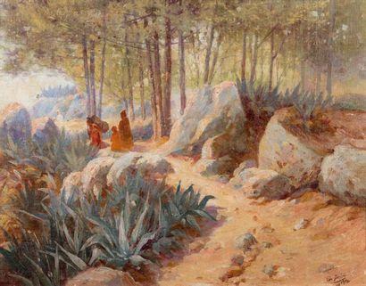 Gustave DEBAT (1861 - 1940)  Les environs...