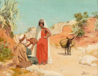 José ALSINA (1850 - ?)    Homme buvant à...