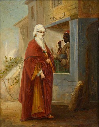 Ecole ORIENTALISTE du XIXème siècle  Femme...