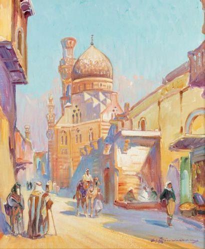 Martin LINDENAU (Né en 1948)  Le Caire, vieille...